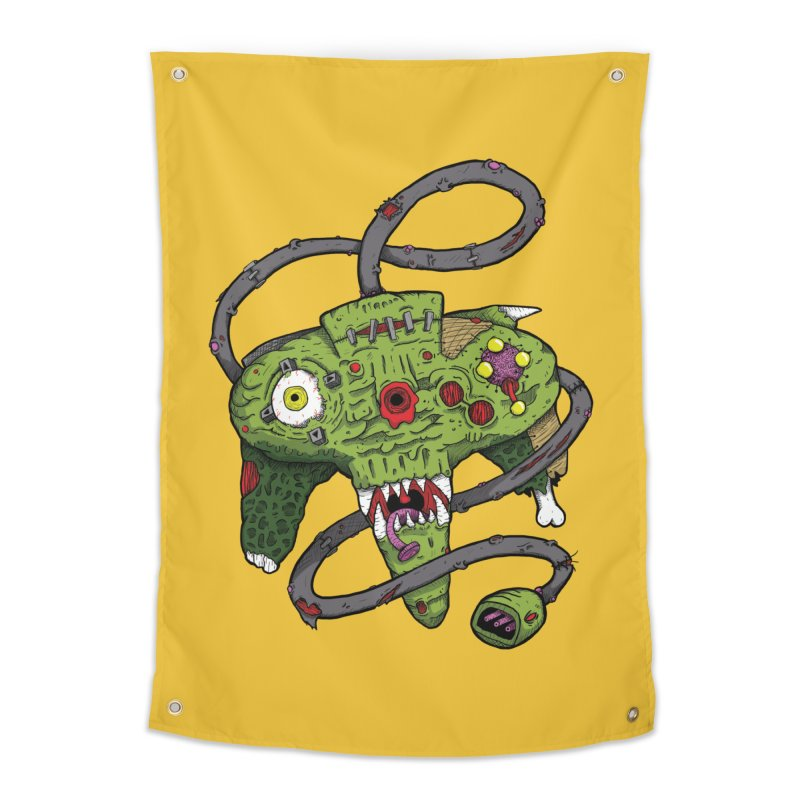Controller Freaks - N64 Home Tapestry by Mystic Soda Shoppe
