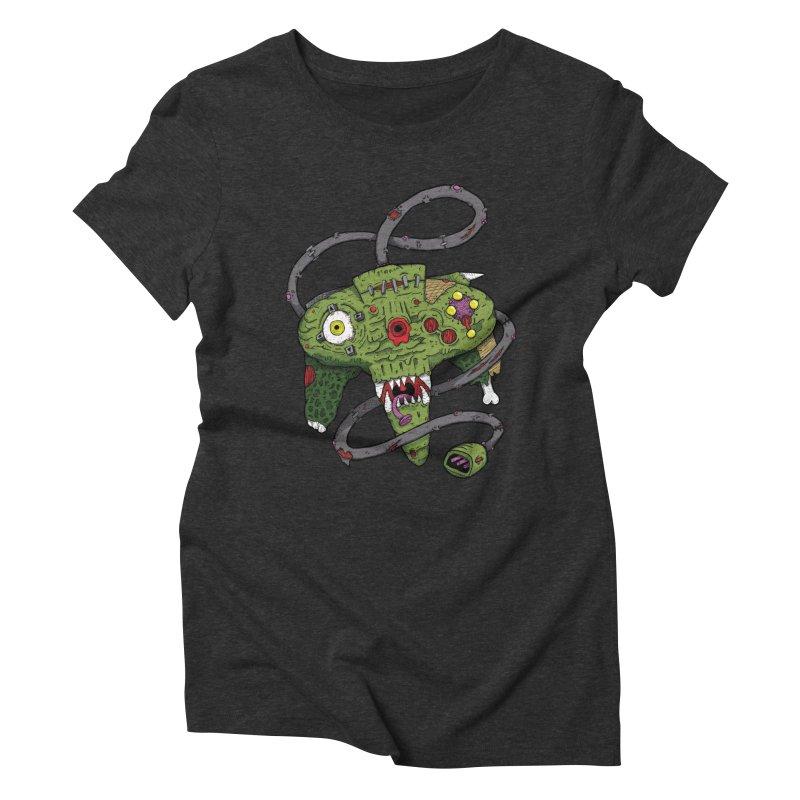 Controller Freaks - N64 Women's Triblend T-shirt by Mystic Soda Shoppe