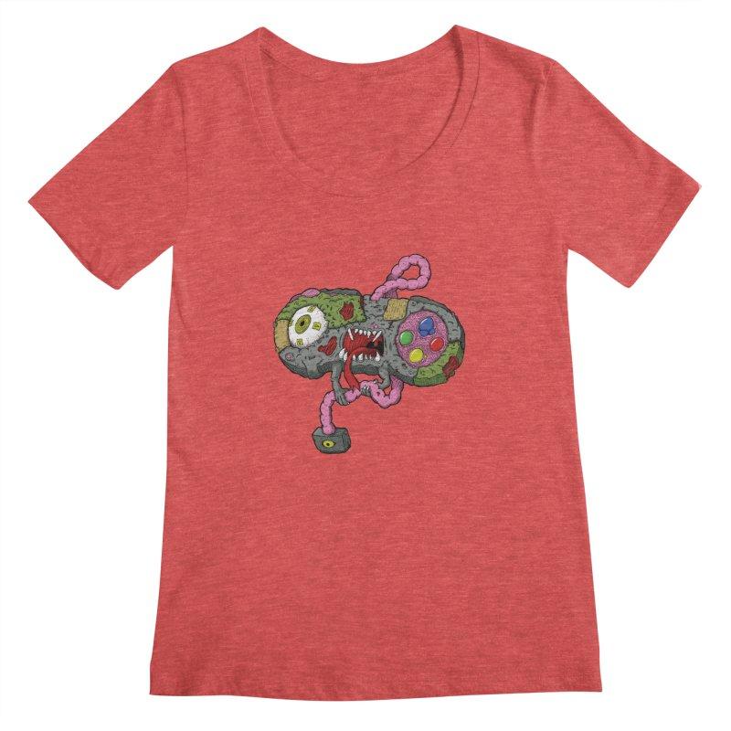 Controller Freaks - Super Nintendo Women's Regular Scoop Neck by Mystic Soda Shoppe