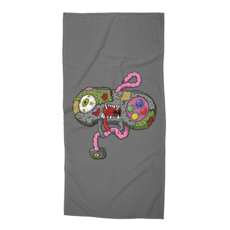 Controller Freaks - Super Nintendo Accessories Beach Towel by Mystic Soda Shoppe
