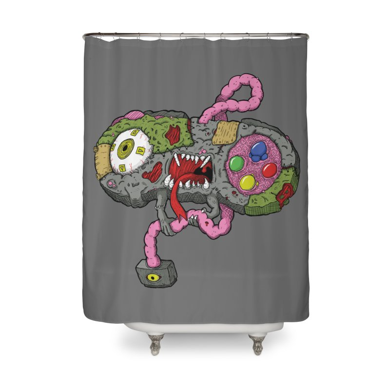 Controller Freaks - Super Nintendo Home Shower Curtain by Mystic Soda Shoppe