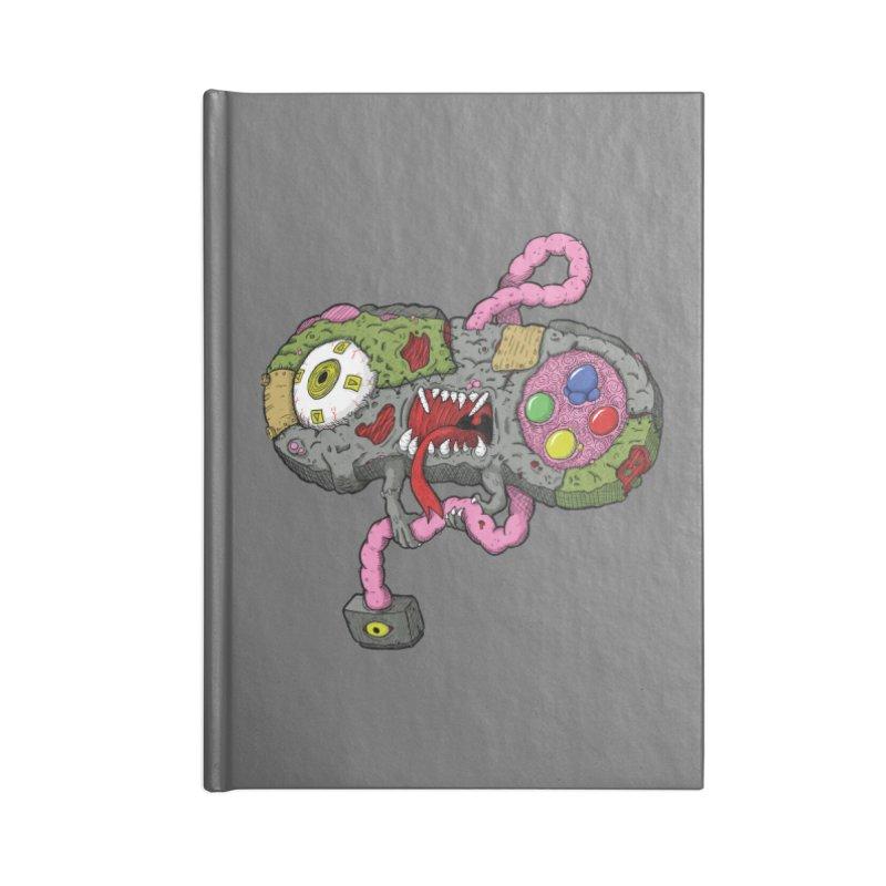 Controller Freaks - Super Nintendo in Blank Journal Notebook by Mystic Soda Shoppe
