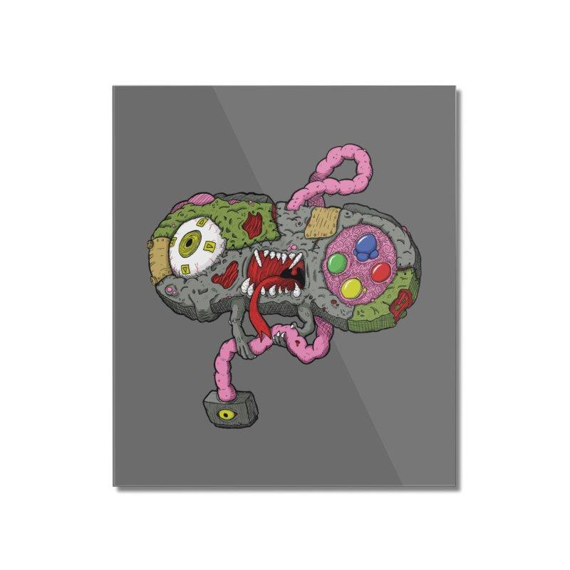 Controller Freaks - Super Nintendo Home Mounted Acrylic Print by Mystic Soda Shoppe