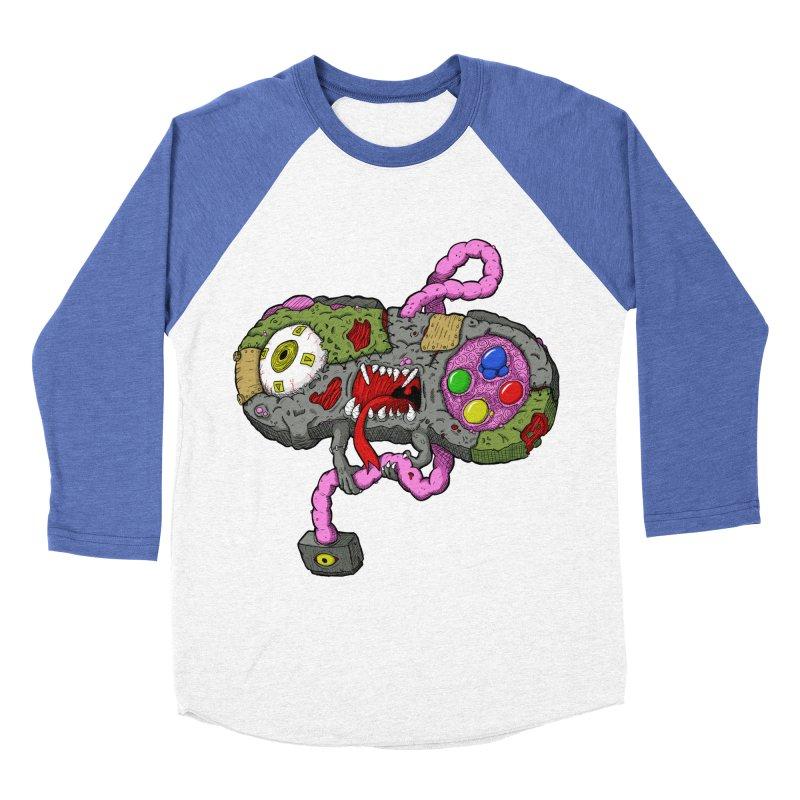 Controller Freaks - Super Nintendo Men's Baseball Triblend T-Shirt by Mystic Soda Shoppe