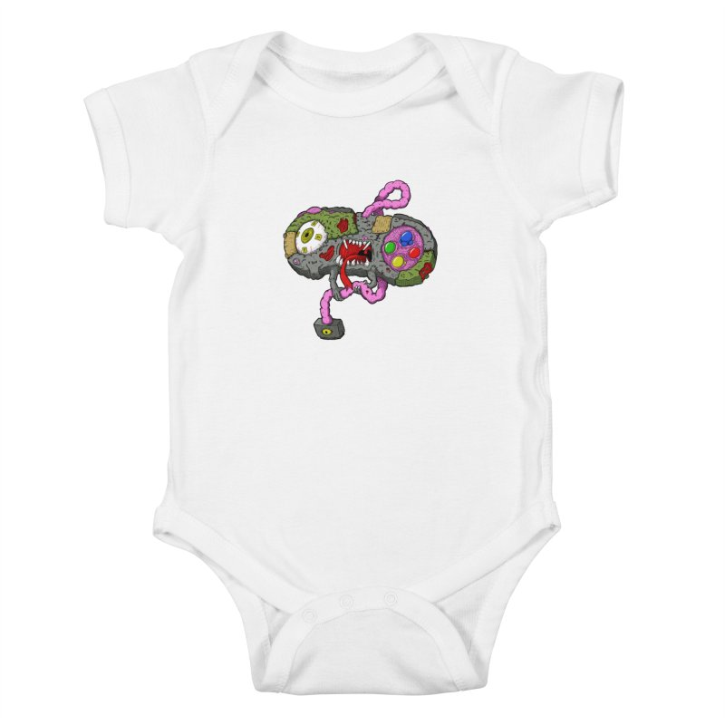 Controller Freaks - Super Nintendo Kids Baby Bodysuit by Mystic Soda Shoppe