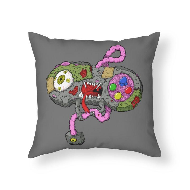Controller Freaks - Super Nintendo Home Throw Pillow by Mystic Soda Shoppe