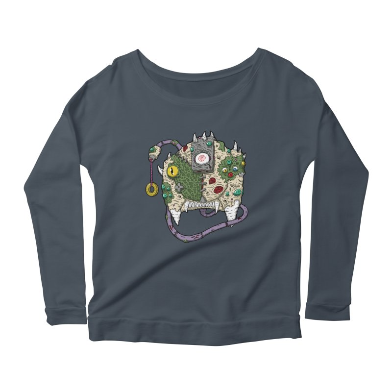 Controller Freaks - The DR34M-C45T Women's Scoop Neck Longsleeve T-Shirt by Mystic Soda Shoppe