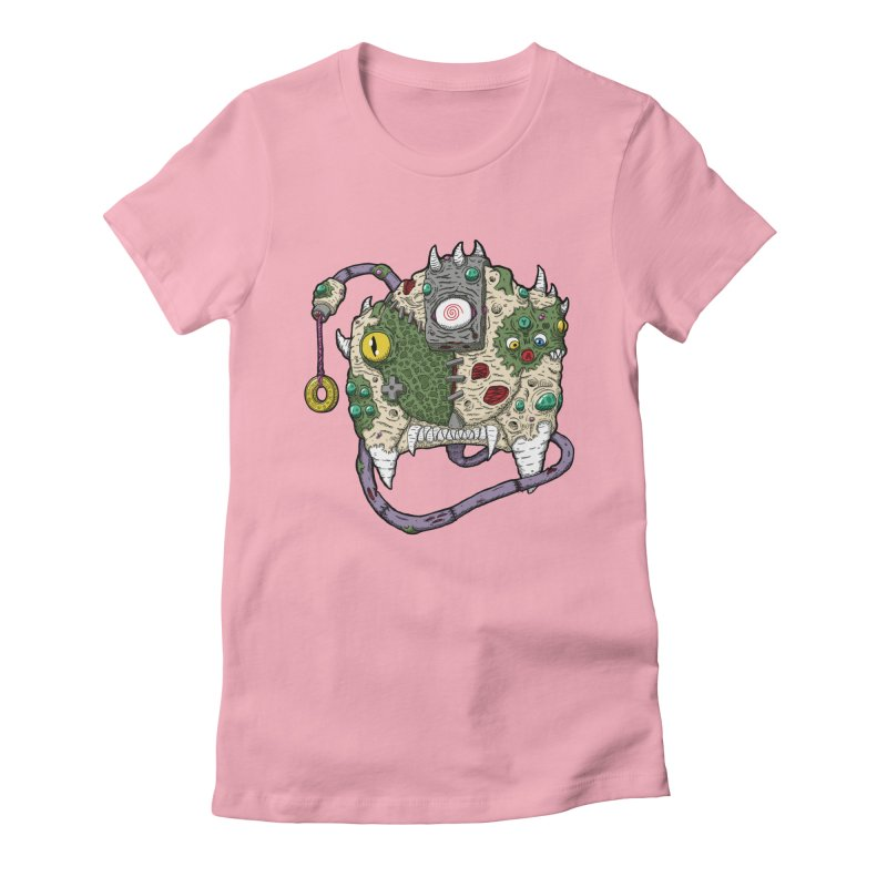 Controller Freaks - The DR34M-C45T Women's Fitted T-Shirt by Mystic Soda