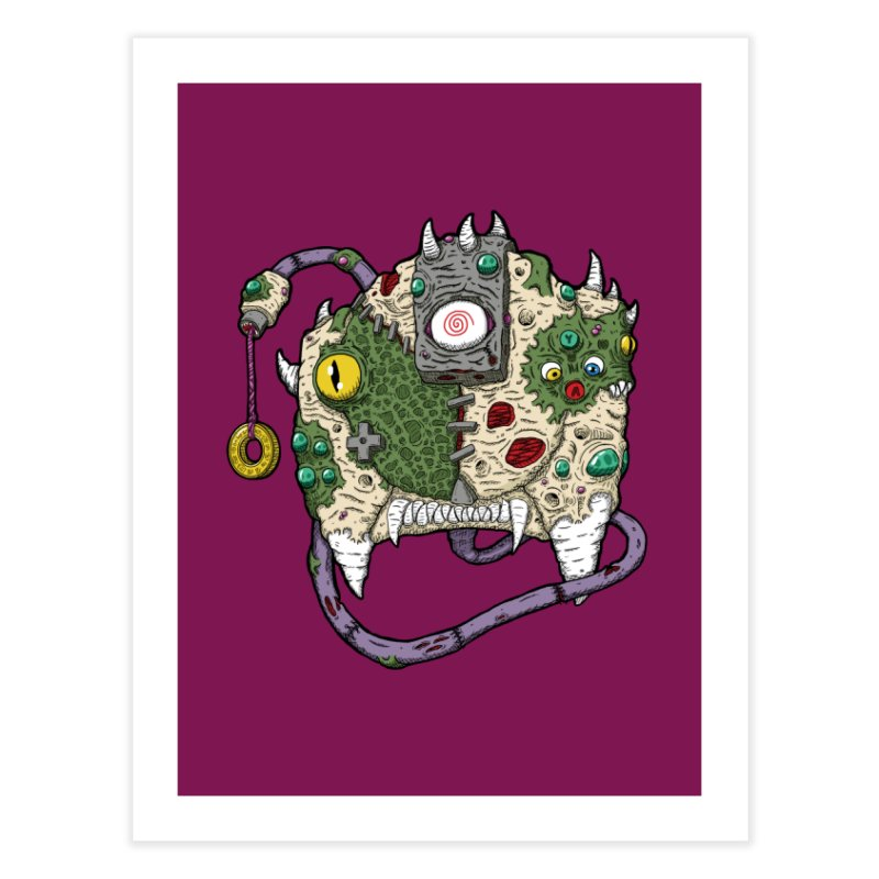Controller Freaks - The DR34M-C45T Home Fine Art Print by Mystic Soda Shoppe