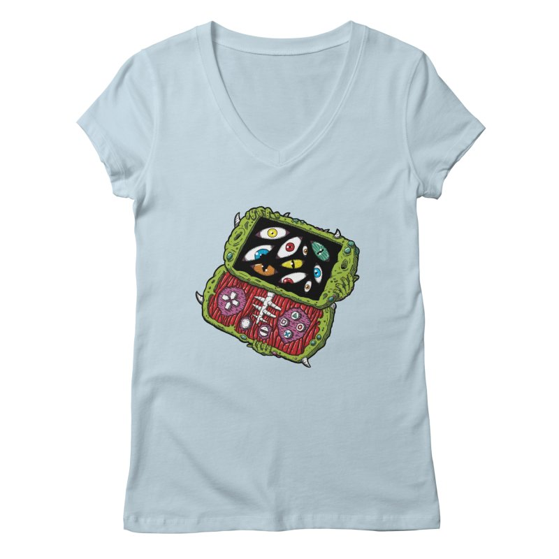 Controller Freaks - Subject P5P-G0 Women's Regular V-Neck by Mystic Soda