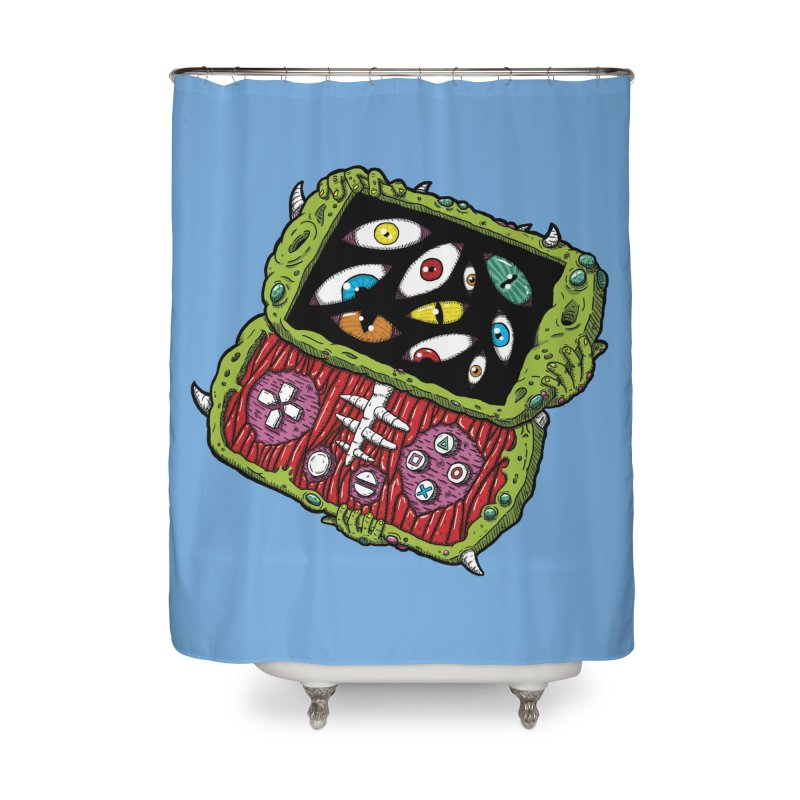 Controller Freaks - Subject P5P-G0 Home Shower Curtain by Mystic Soda