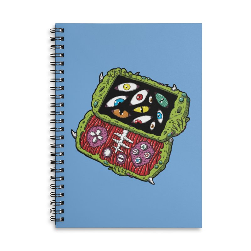 Controller Freaks - Subject P5P-G0 Accessories Lined Spiral Notebook by Mystic Soda
