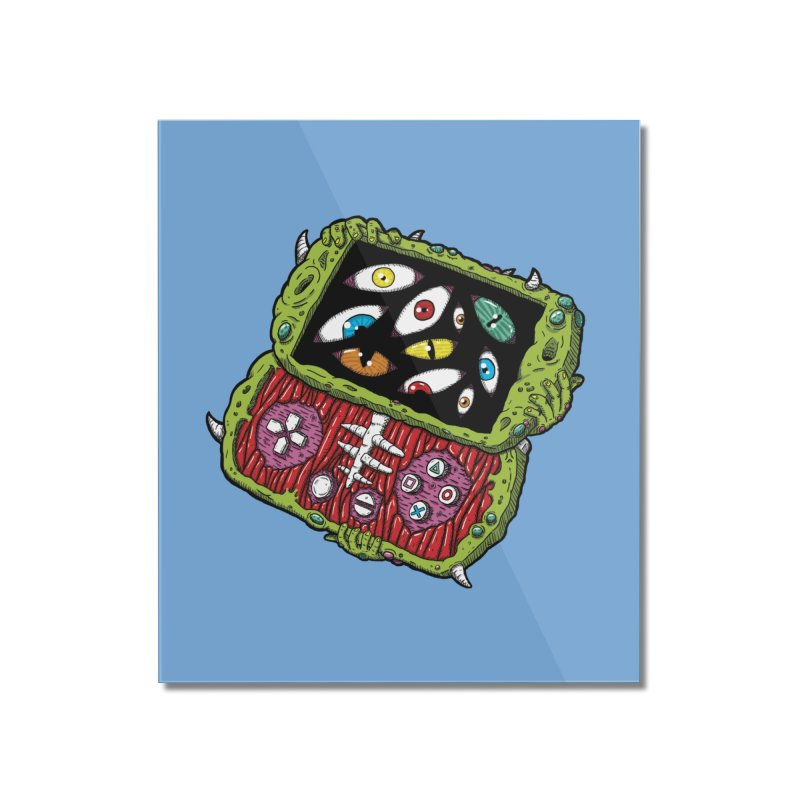 Controller Freaks - Subject P5P-G0 Home Mounted Acrylic Print by Mystic Soda