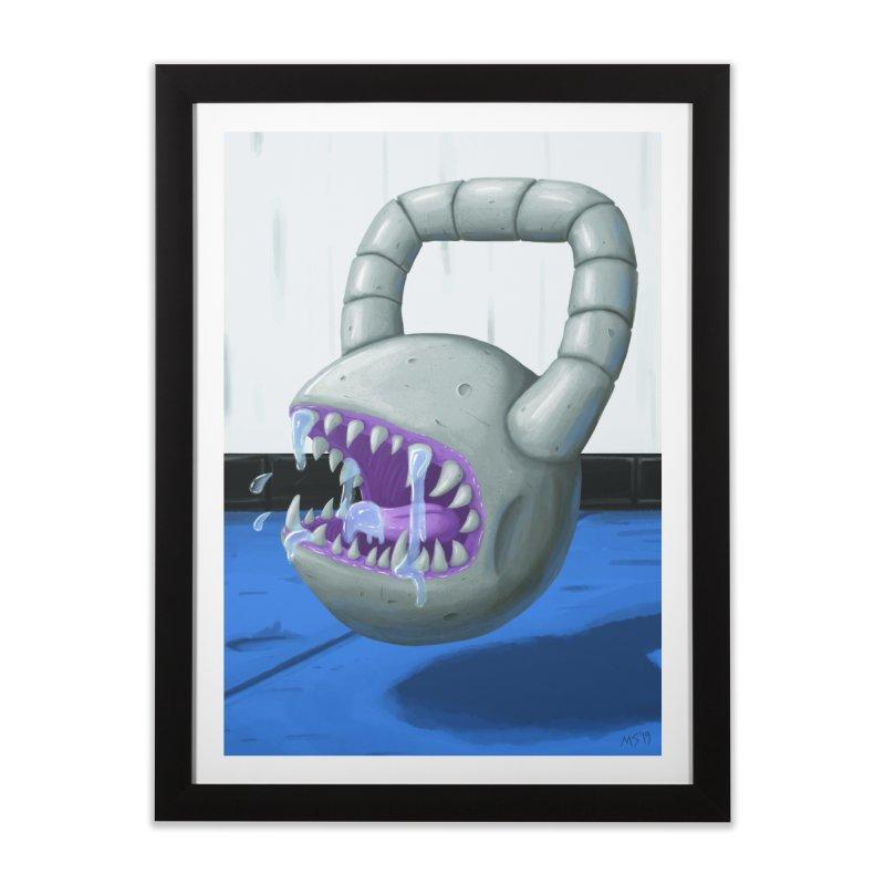 Killer Kettlebell! Home Framed Fine Art Print by Mystic Soda