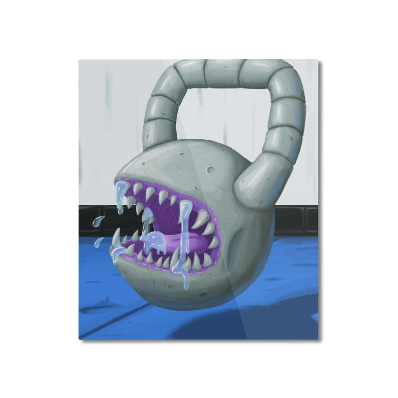 Killer Kettlebell! Home Mounted Aluminum Print by Mystic Soda