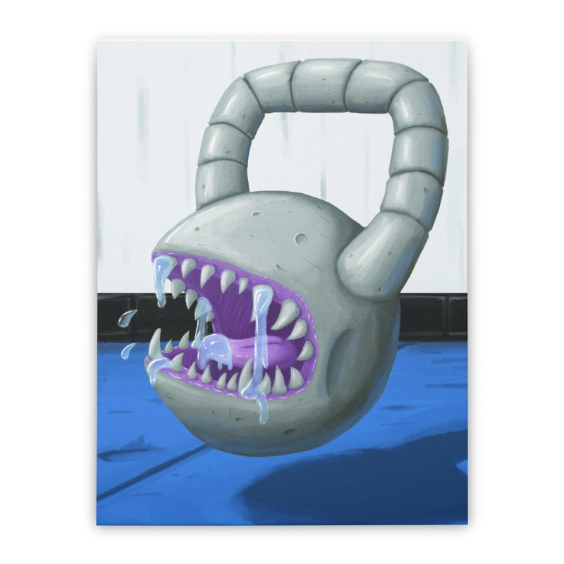 Killer Kettlebell! Home Stretched Canvas by Mystic Soda