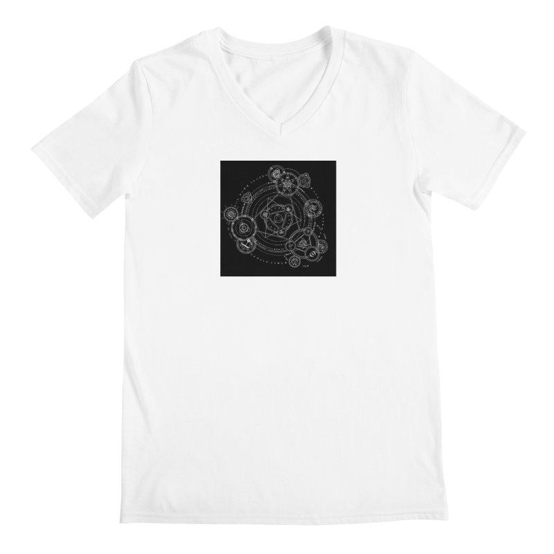 Formal Magic Circle Men's V-Neck by mytarotshop's Artist Shop