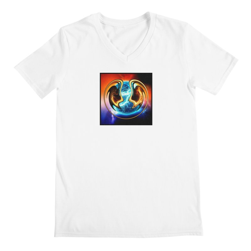 Yin and Yang Men's V-Neck by mytarotshop's Artist Shop