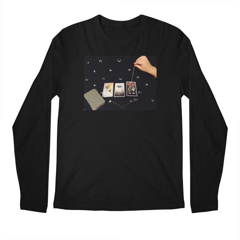 Black and Silver Men's Longsleeve T-Shirt by mytarotshop's Artist Shop