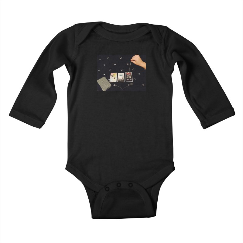 Black and Silver Kids Baby Longsleeve Bodysuit by mytarotshop's Artist Shop