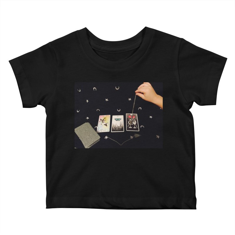 Black and Silver Kids Baby T-Shirt by mytarotshop's Artist Shop