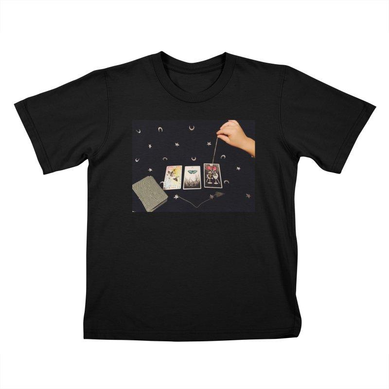 Black and Silver Kids T-Shirt by mytarotshop's Artist Shop