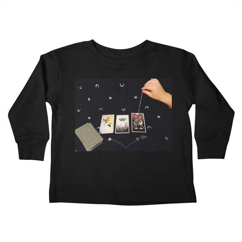 Black and Silver Kids Toddler Longsleeve T-Shirt by mytarotshop's Artist Shop