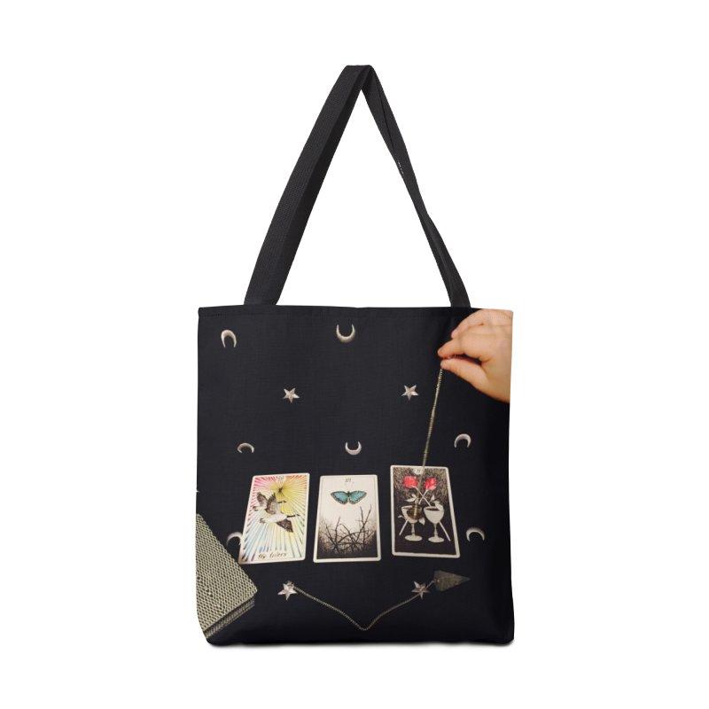 Black and Silver Accessories Bag by mytarotshop's Artist Shop