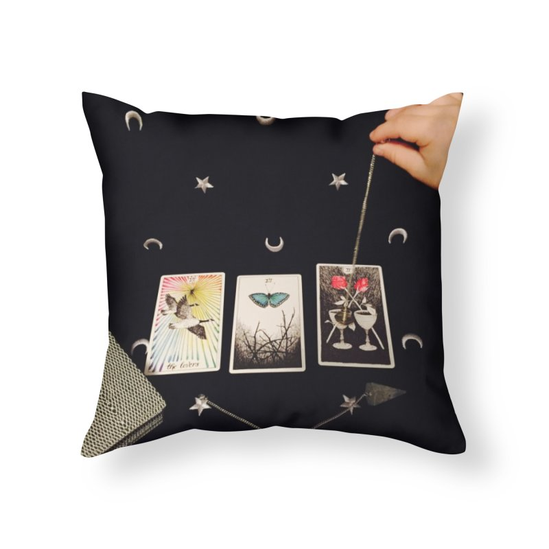 Black and Silver Home Throw Pillow by mytarotshop's Artist Shop