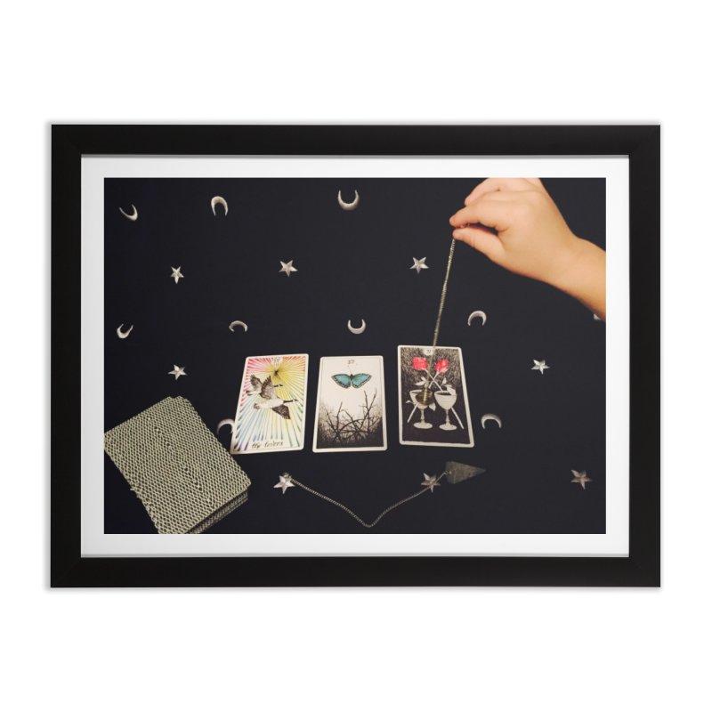 Black and Silver Home Framed Fine Art Print by mytarotshop's Artist Shop