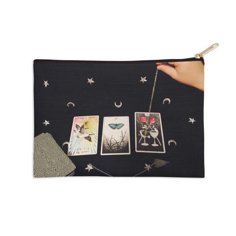 Black and Silver Accessories Zip Pouch by mytarotshop's Artist Shop