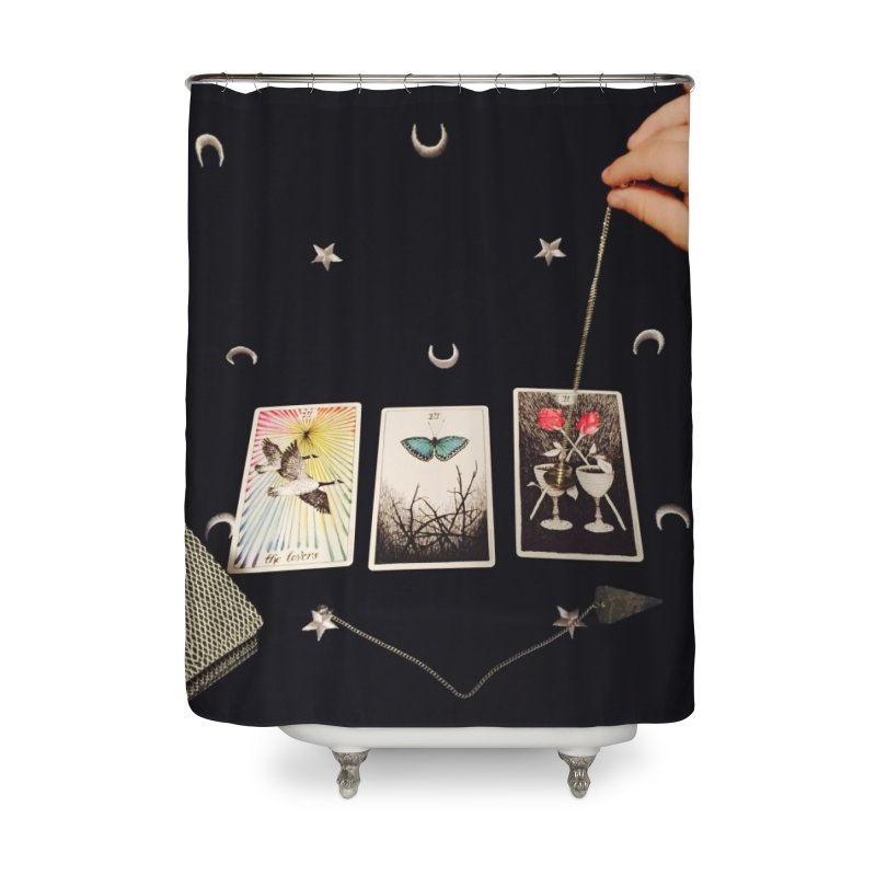 Black and Silver Home Shower Curtain by mytarotshop's Artist Shop
