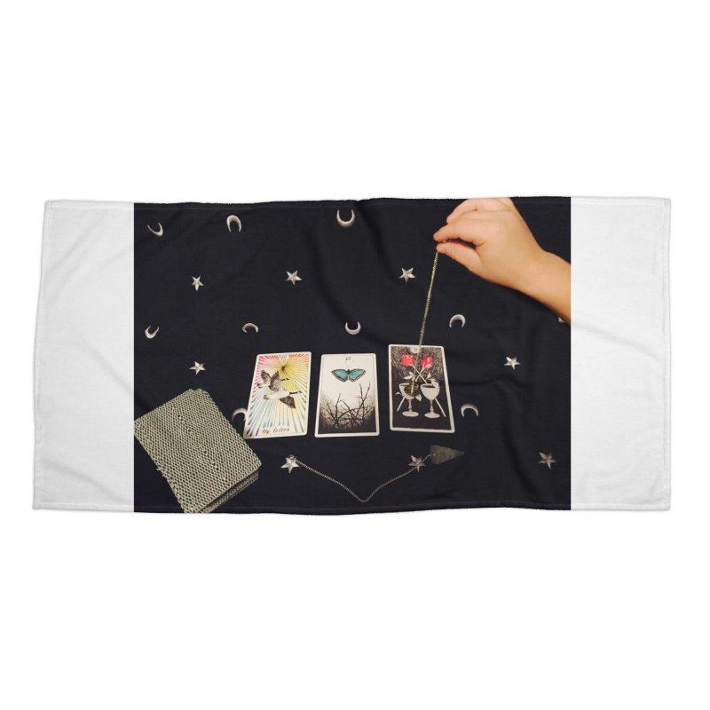 Black and Silver Accessories Beach Towel by mytarotshop's Artist Shop
