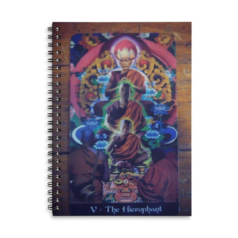 #5 Hierophant Accessories Notebook by mytarotshop's Artist Shop