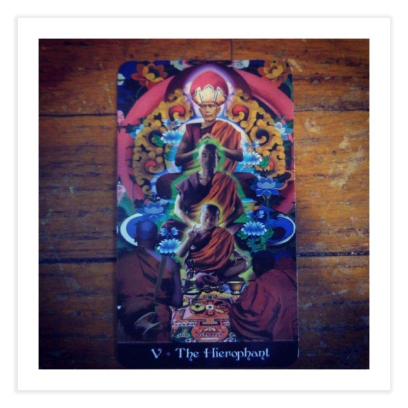 #5 Hierophant Home Fine Art Print by mytarotshop's Artist Shop