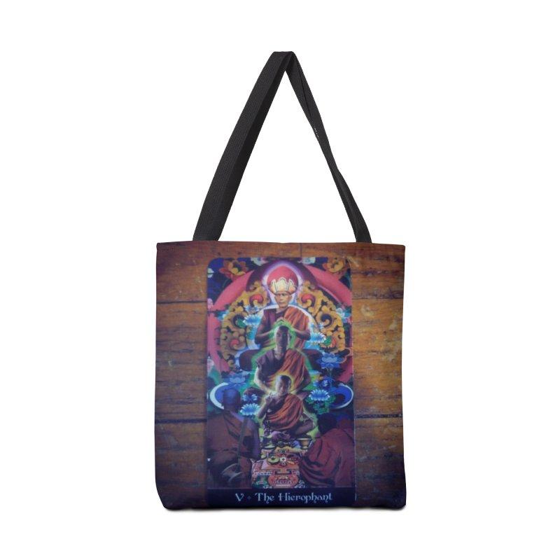 #5 Hierophant Accessories Bag by mytarotshop's Artist Shop