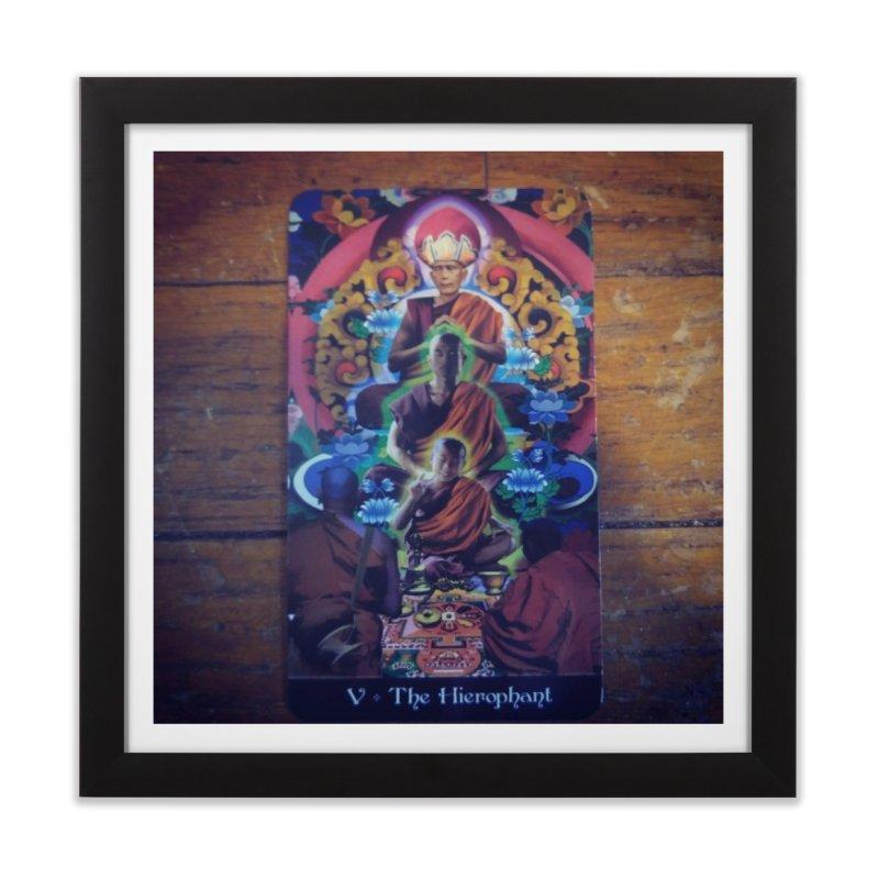 #5 Hierophant Home Framed Fine Art Print by mytarotshop's Artist Shop
