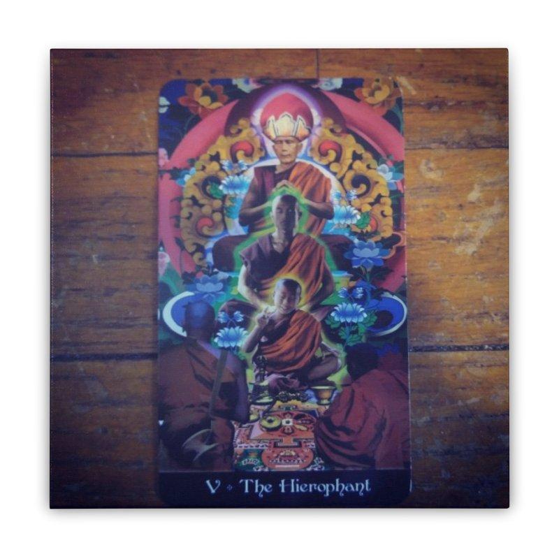 #5 Hierophant Home Stretched Canvas by mytarotshop's Artist Shop
