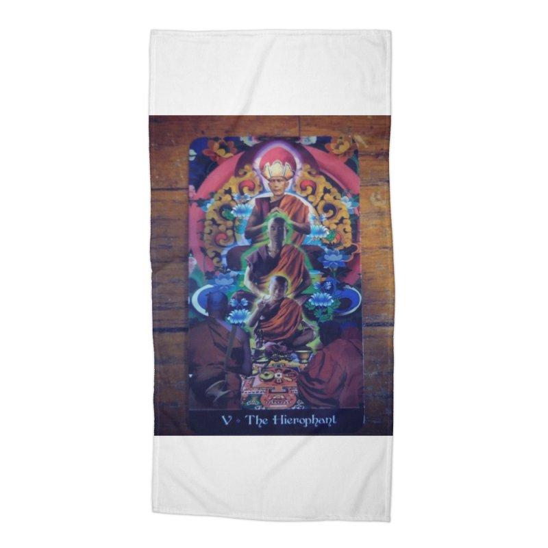 #5 Hierophant Accessories Beach Towel by mytarotshop's Artist Shop