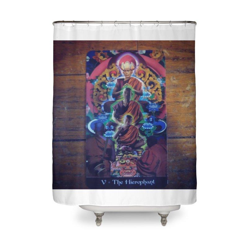 #5 Hierophant Home Shower Curtain by mytarotshop's Artist Shop