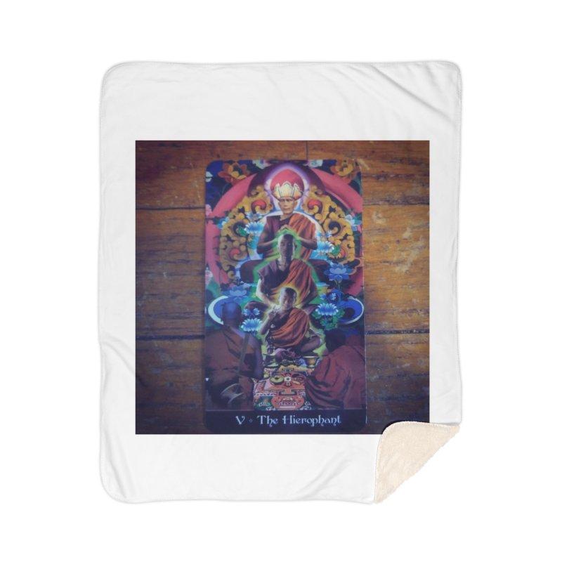 #5 Hierophant Home Blanket by mytarotshop's Artist Shop