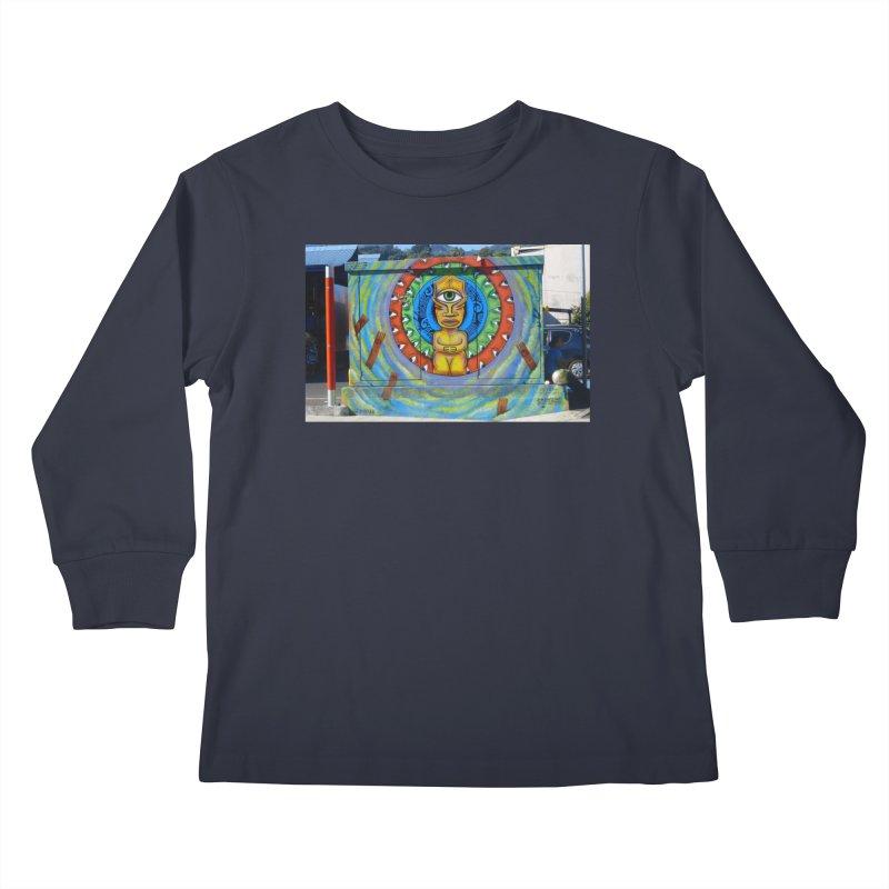 Tiki Woman Kids Longsleeve T-Shirt by mytarotshop's Artist Shop