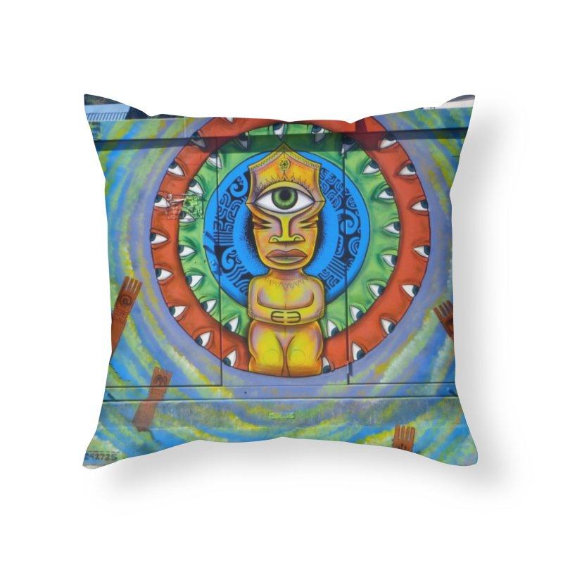 Tiki Woman Home Throw Pillow by mytarotshop's Artist Shop