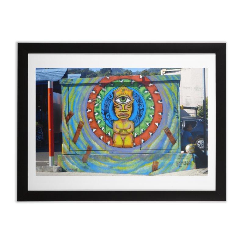 Tiki Woman Home Framed Fine Art Print by mytarotshop's Artist Shop