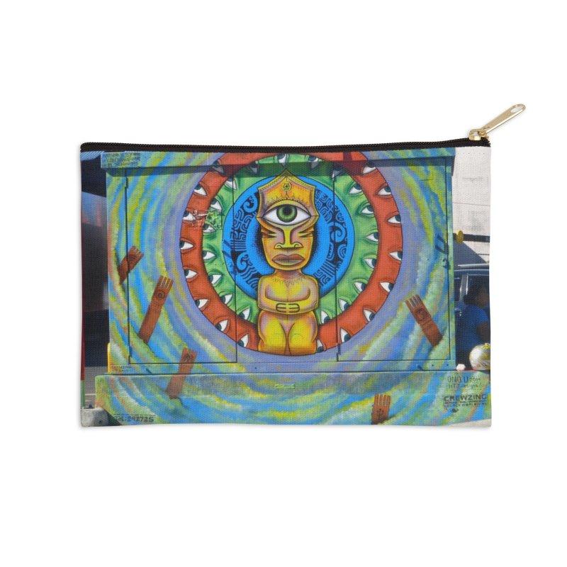 Tiki Woman Accessories Zip Pouch by mytarotshop's Artist Shop