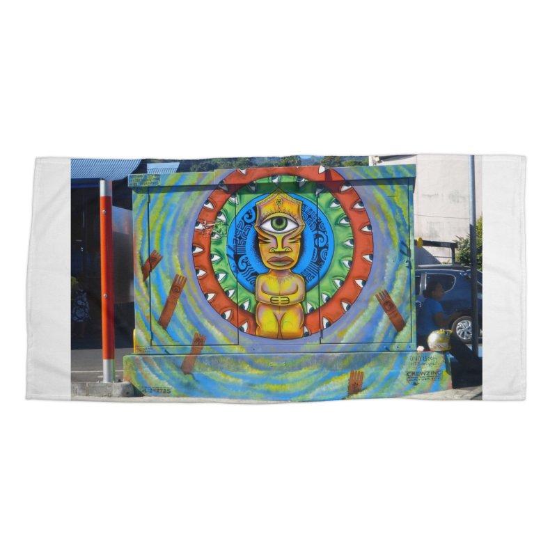Tiki Woman Accessories Beach Towel by mytarotshop's Artist Shop
