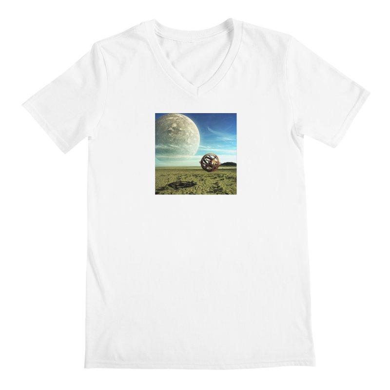 Digital Earth Men's V-Neck by mytarotshop's Artist Shop