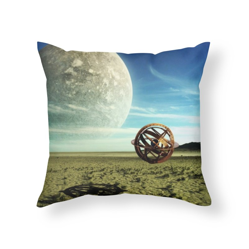 Digital Earth Home Throw Pillow by mytarotshop's Artist Shop