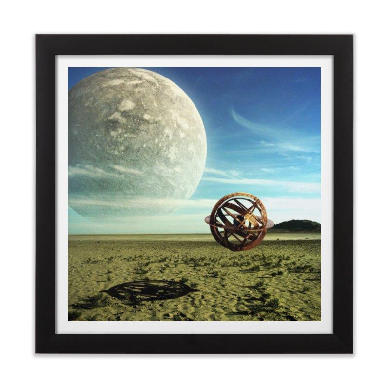 Digital Earth Home Framed Fine Art Print by mytarotshop's Artist Shop