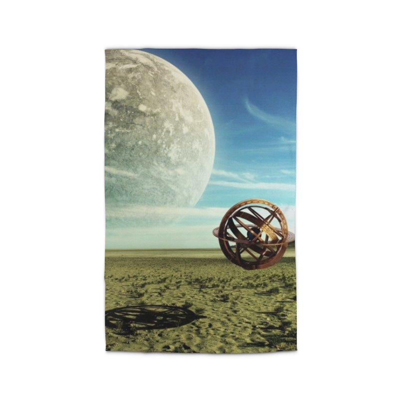 Digital Earth Home Rug by mytarotshop's Artist Shop